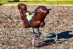 Squirrel playground toy Royalty Free Stock Images