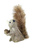 Squirrel Puppet. Holding pine cone isolated over white background Royalty Free Stock Photography