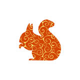 Squirrel rodent mammal color silhouette animal. Vector Illustrator Royalty Free Stock Photo