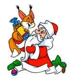 Squirrel Santa Claus Christmas Stock Photo