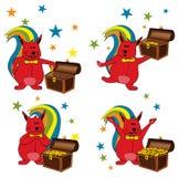 Squirrel savings Royalty Free Stock Images