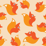 Squirrel seamless pattern Royalty Free Stock Image