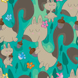 Squirrel Seamless Pattern_eps Royalty Free Stock Image