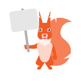 Squirrel with tablet Stock Photography