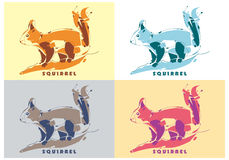Squirrel Vector Royalty Free Stock Images