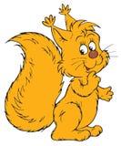 Squirrel (vector clip-art) Stock Photography