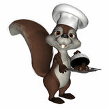Squirrelly Chef 2 Royalty Free Stock Photo