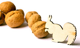 Squirrels and Nuts Royalty Free Stock Image