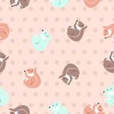 Squirrels pattern Stock Image