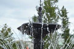 Squirt, брызните фонтан Часть фонтана города Стоковые Фото