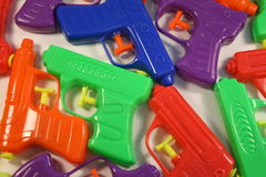 Squirt  gun background Royalty Free Stock Photo