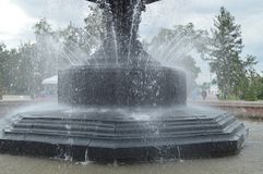 Squirt, splash water fountain. Part of the city fountain Royalty Free Stock Photos