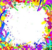 Squirts. Frame made of colorful paint squirts and blobs Stock Photography