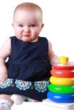 Squishedface. Baby with frown on face Stock Image