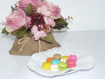 Squisitezza dolce francese Macarons Immagini Stock