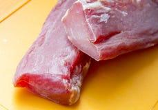 squisitezza Due parti di carne grezza immagine stock libera da diritti