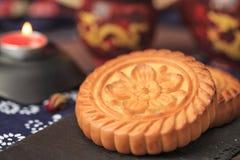 Squisitezza tradizionale cinese - mooncakes fotografia stock