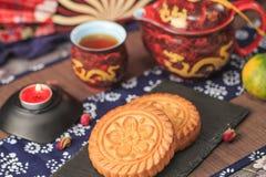 Squisitezza tradizionale cinese - mooncakes fotografie stock