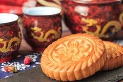 Squisitezza tradizionale cinese - mooncakes immagini stock