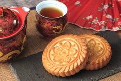 Squisitezza tradizionale cinese - mooncakes immagine stock