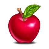 Squisito fresco della mela rossa illustrazione di stock