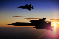 SR-71 αεροπλάνο κατασκόπων κοτσύφων Στοκ Φωτογραφία