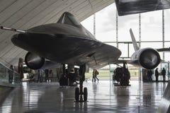 SR71 κότσυφας στην επίδειξη στο μουσείο αέρα Duxford Στοκ φωτογραφίες με δικαίωμα ελεύθερης χρήσης