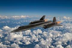 SR-71黑鹂间谍飞机 免版税库存照片