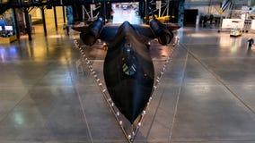 在国家宇航博物馆的SR 71黑鹂 库存照片