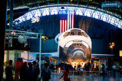 SR-71 Blackbird and space shuttle Discovery  at the National Air and Space Museum Royalty Free Stock Photos