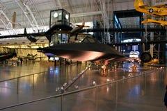 SR-71 BLACKBIRD. Taken at the Dulles air museum stock photography