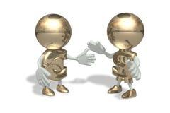 Sr. dólar e euro Ilustração do Vetor