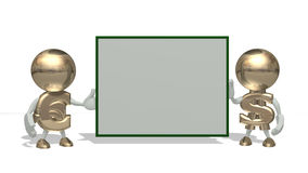 Sr. dólar e euro em um branco Ilustração Stock