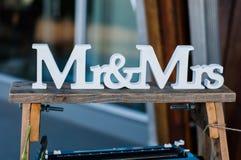 Sr. e Sra. sinal Fotos de Stock Royalty Free