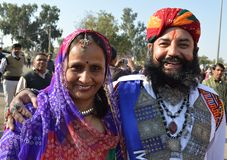 Sr. Festival Jaisalmer do deserto do bigode Fotografia de Stock Royalty Free
