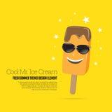 Sr. fresco Cones de gelado da morango, do chocolate, da baunilha e do pistachio sobre o fundo branco Fotos de Stock Royalty Free