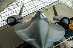 SR-71 kos na pokazie przy SAC muzeum zdjęcia stock