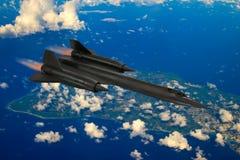 SR-71 kosa wzierny samolot obraz royalty free