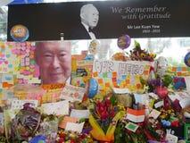 Sr. Lee Kuan Yew (16 09 1923 - 23 03 2015) Fotos de Stock Royalty Free