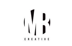 SR. M R White Letter Logo Design con el fondo del círculo Fotografía de archivo libre de regalías