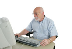 Free Sr Man Confused By Computer Stock Images - 852124