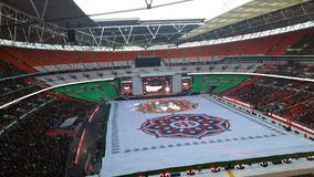 Sr. Modi no estádio de Wembley Foto de Stock Royalty Free