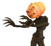 Sr. Pumpkin aislado en el fondo blanco ilustración 3D Stock de ilustración