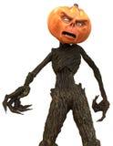 Sr. Pumpkin aislado en el fondo blanco ilustración 3D Ilustración del Vector