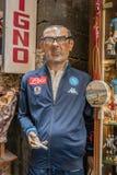 Sr. Sarri, treinador da equipe de futebol de Nápoles foto de stock