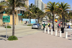 SR A1A South of SE 5th St Royalty Free Stock Photos