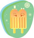 Sr. y señora Icecream Imagen de archivo libre de regalías