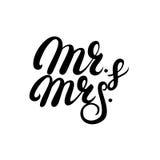 Sr. y señora letras escritas mano Imagen de archivo