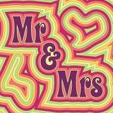 Sr. y señora maravillosos libre illustration