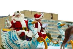 Sr. y señora Santa Claus en Philly Fotos de archivo libres de regalías